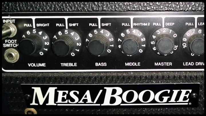 mesa boogie markIII painel frontal